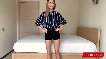 FIT18 - Eva Elfie - 44kg - Casting Shy Young Teen With Big Natural Tits thumbnail