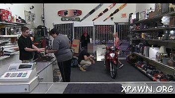 Sex in shop with big weenie