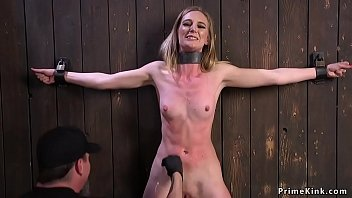 Babe bound in brutal devices tormented