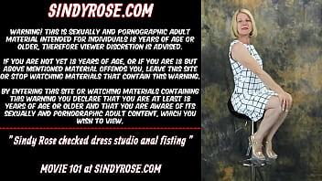Sindy Rose Chec ked Dress Studio Anal Fisting o Anal Fisting