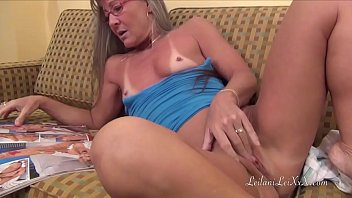 Mature 40 something Milf masturbates to a new magazine