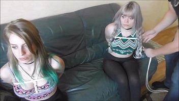 two teen girls as bondage dolls