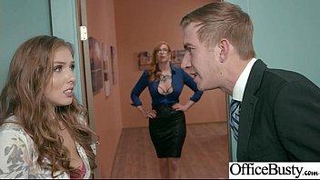 (Lauren Phillips & Lena Paul) Sexy Big Tits Office Girl Love Hard Sex Clip-21
