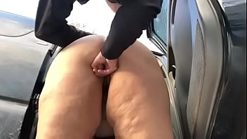 BBW Upskirt and Doggy Outside