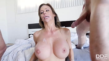 Two cocks for salacious American Milf star Alexis Fawx to get DP fucked