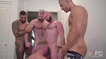 Hardcore throat fucking gay gang bang Gang bang - 2 dick in 1 ass - hard fuck
