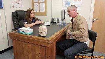 Femdom Cayenne Klien makes patient cum 6 min