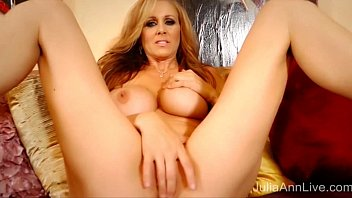 Blonde Milf Julia Ann Masturbates in Red Heels! preview image