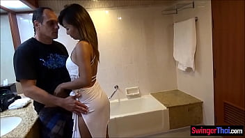 Cheating Thai Amateur Wife Taking Very Big Risks With Husbands Best Friend