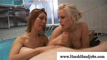 Painfull pleasures - Two horny girls licking and enjoying dick