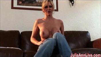 Ann angel free masturbate video - Sexy milf julia ann cums from glass dildo