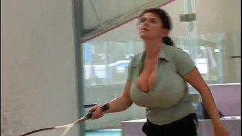 Lesbians velba vs nadine vs Milena velba busty tennis