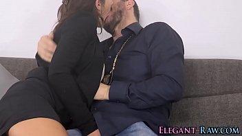 Glam european has anal