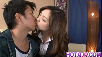 Aiko Hirose sucking and licking boner
