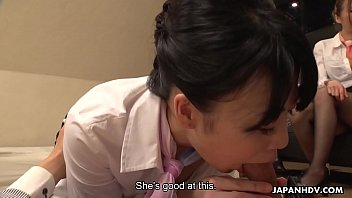 Japanese flight attendant, Luke Ichinose had an exciting orgy, uncensored