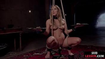 BDSM Slut Gagging During Deepthroat Training Gets Cumshot