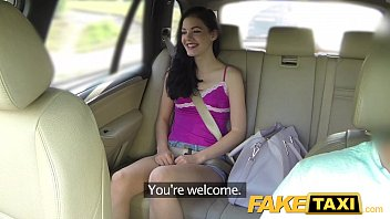 Fake taxi brunette screams on big cock thumbnail