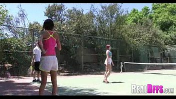 College girls tennis match turns to orgy 003
