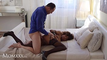 MOM.XXX Interracial bondage fantasy with ebony latina milf Luna Corazon