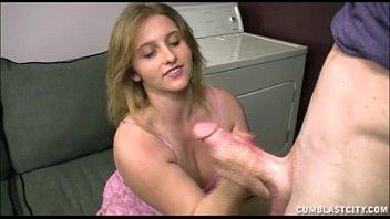 Busty Teen Handjob In The Laundry Room
