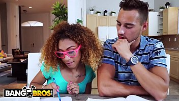BANGBROS - Kendall Woods Fucks Her Tutor And Gets Busted By Her Mom
