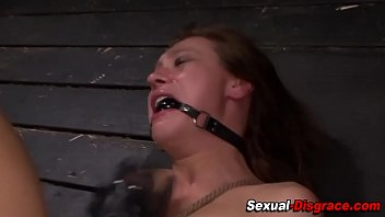 Tied up subs ass fucked