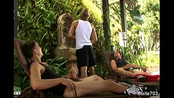 Tommy lee bi gay Sexual gay jocks fuck in threesome outdoors