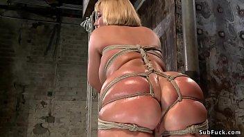 taboo6.com huge ass tied blonde riding dildo
