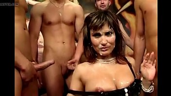 Sperm addict girls cover her face with cum and swallow - Part 1