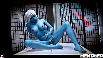 ALIEN PORN | Fantastic blonde with blue skin | Subyl Arch