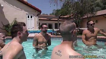 Ebony Daya Knight's Pool Party Turns Blowjob Orgy