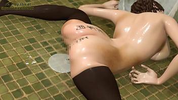 Anime Public Toilet Sex Slave girl