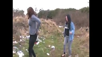 Girls Pissing In Field