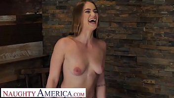 Naughty America Kenzie Madison plays strip pool with friend's brother preview image