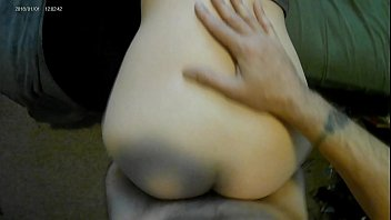 Before work quickie with natural GF with creampie finish