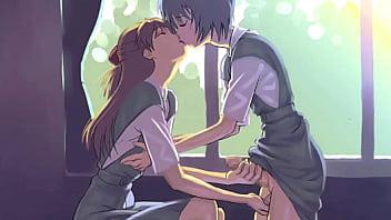 Asmr summer love intense ear kissing closeup soft...