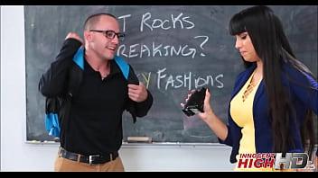 Hot Teacher Fucks Nerdy Male Student