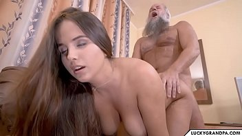 Her Big Breasts Penetrated Hard By The Gifted Grandfather