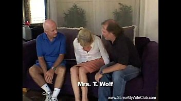 Wives first threesome pics gallery - Blonde swinger slut mrs. wolf abused