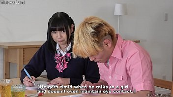 Japanese schoolgirl who seduces a virgin tutor and makes her masochistic
