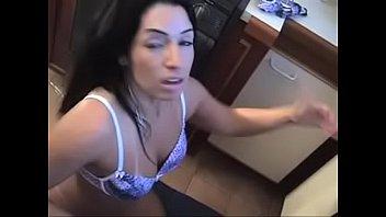 Monica Santiago sticking banana up her ass