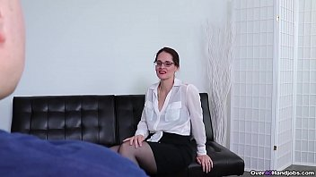 Sexy milf jerks off a cock 6 min