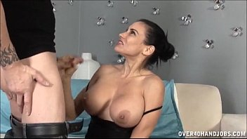 Over 40 nudist - Busty brunette milf jerking