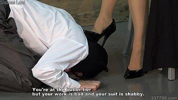 Japanese Femdom Reiko Butler Slave Domestication Training