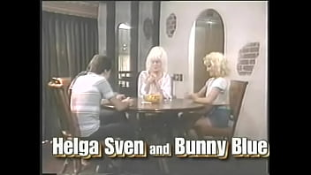 Weariful blonde lady Helga Sven invited her pretty young niece Bunny Bleu and couple of guys living next door to have a good time playing exciting cards game