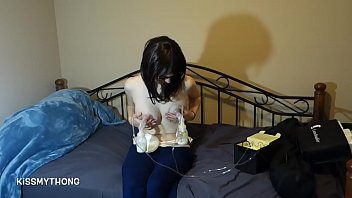New breast milk Homemade new mom pumping her breastmilk for you