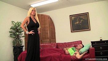 huge tit milf nikita von james fucks her sons friend on couch – teen porn