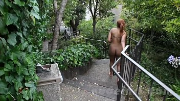 Walking through the park naked - Nude in san francisco: hot black teen walks around naked