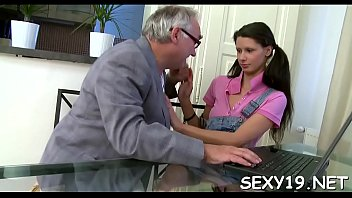 Chick needs to comply with elderly teacher horny demands