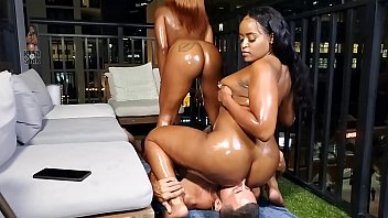 Harmonie Marquise And Nyna Stax Take Turns Riding Faces